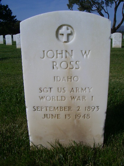 John Ross Tombstone