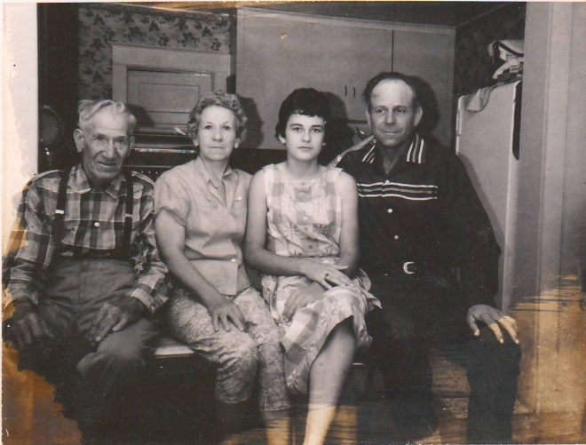 Joseph McMurdie, Clara, RaNae (Cookie), and Ivan Coley about about 1964