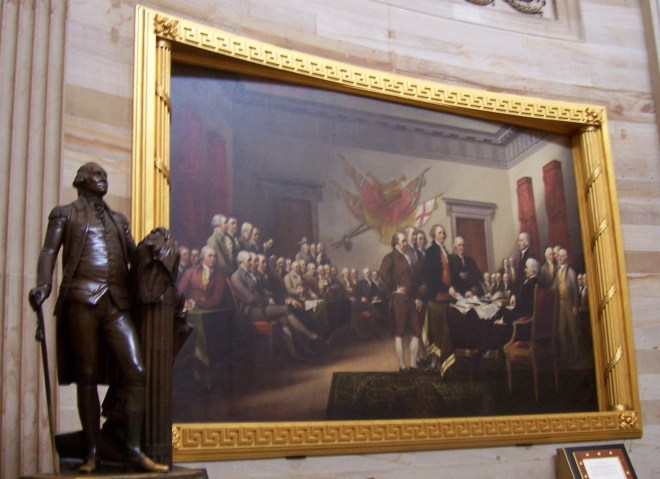 George Washington statute by the Turnbull Commission of Five.  Adams, Jefferson, Washington, all became Presidents.