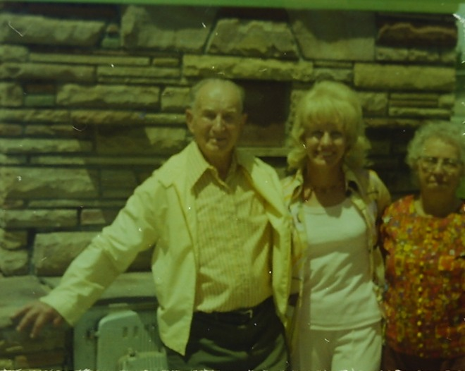Sergene with her parents in the late 1970's