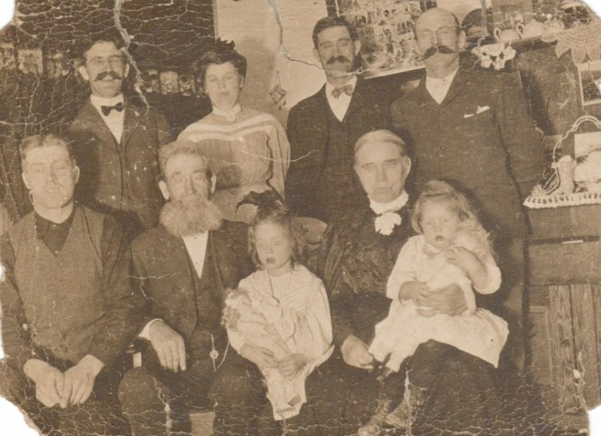 Francis and Mary Hutton with unknown family