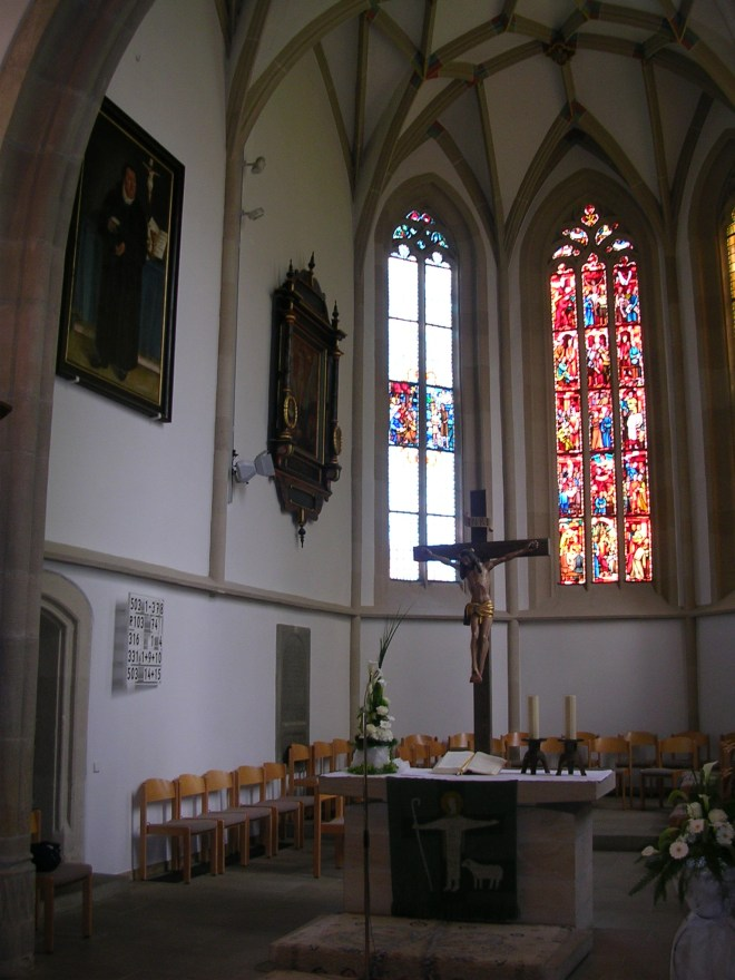 The altar of St. Mauritius in Holzgerlingen where Johann and Anna were likely married