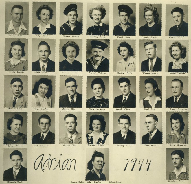 Class Picture, Adrian High School, 1944