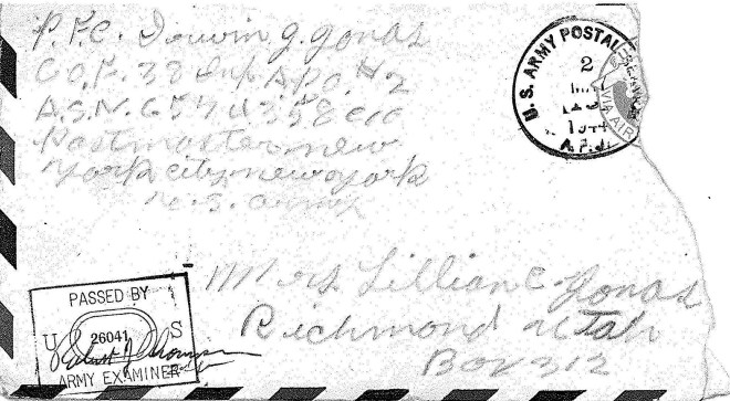 Irwin Envelope 1944 May
