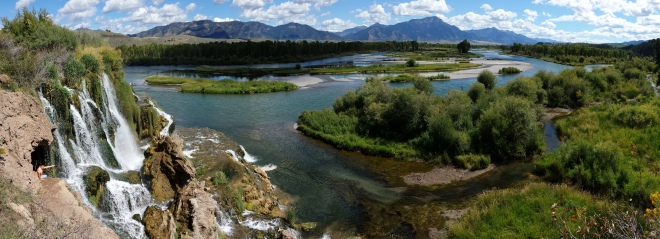 View of Snake River near Swan Valley, Idaho