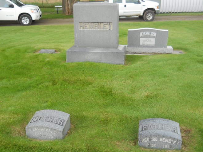 Hemsley graves in Plano, Idaho