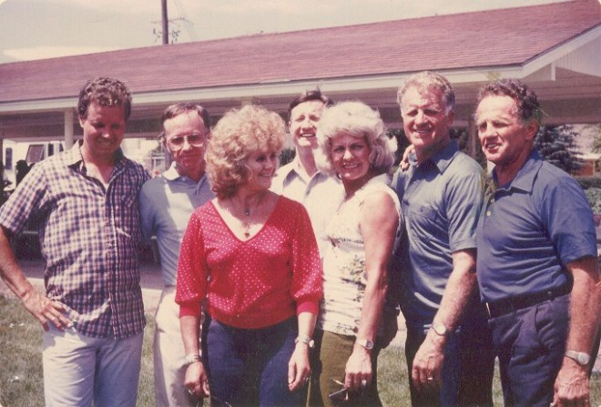 80's reunion, Larry, Dale, Colleen, Ross, Sergene, Donald, Golden