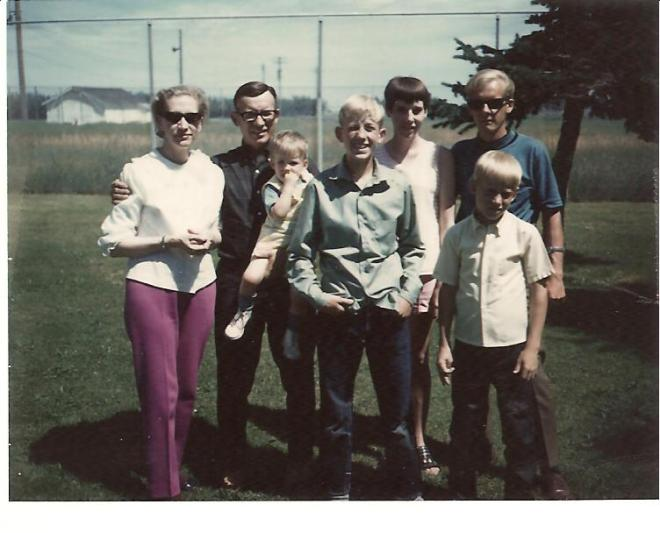 Bill and Edith with 5 boys
