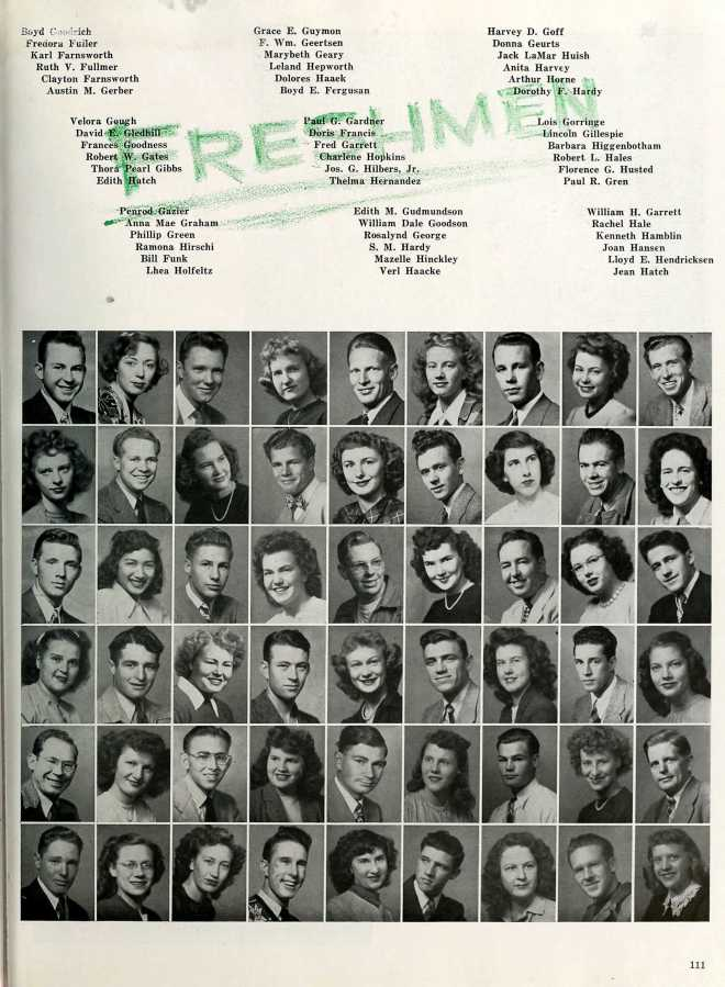 Edith in the BYU yearbook